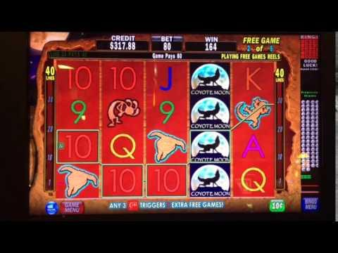 Coyote Moon $8 bet bonus ** SLOT LOVER **