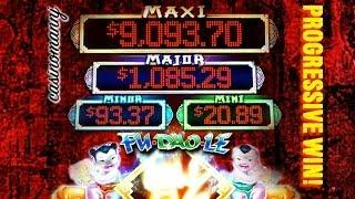 Fu Dao Le  - *PROGRESSIVE WIN*  -Slot Machine Bonus