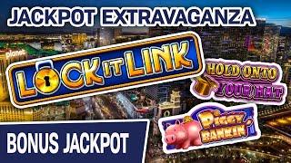 ⋆ Slots ⋆ LOCK IT LINK JACKPOT Extravaganza! ⋆ Slots ⋆ Hold Onto Your Hat + EXTRA Piggy Bankin' Slot Action
