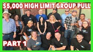 $5,000 HIGH LIMIT GROUP PULL Part 1 - Lightning Link & Buffalo Thundering 7's