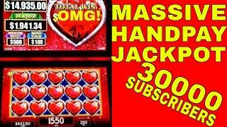 HUGE Handpay Jackpot on High Limit Lock It Link Slot Machine | $25 Max Bet Live Slot Play | Jackpot