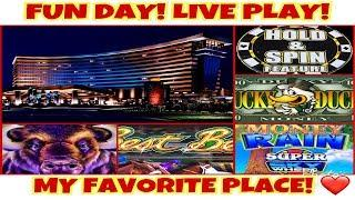 **FUN PLAY DAY AT MY FAVORITE PLACE!** READ DESCRIPTION! | LIVE PLAY! | BONUSES! FUN WINS!