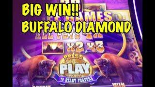 BUFFALO DIAMOND SLOT: BIG WIN!!!