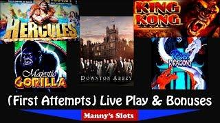 (First Attempts) New!! Downton Abby, Mystic Gorilla, Hercules, King Kong and River Dragons Bonuses