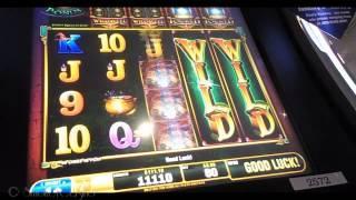 SORCERER'S GOLD Slot Machine Bonus Win By Bally