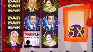 MAD MEN: HIGH STAKES Video Slot Casino Game with a Retriggered High Stakes Free Spin Bonus.