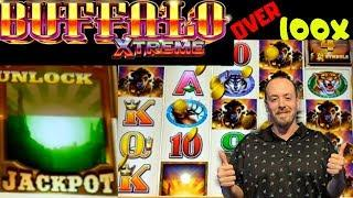 BIG WIN• •BUFFALO XTREME• Bonus over 100x•| Buffalo Gold 3 reel bonus