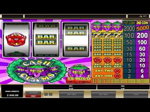 Free Cash Clams slot machine by Microgaming gameplay ★ SlotsUp