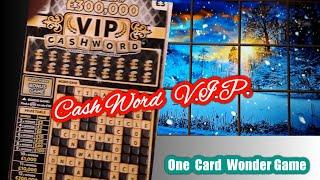 •Its......Cashword..V.I.P....Scratchcard game time.•.............one card wonder game•