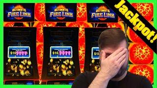 3 Ultimate Fire Link Slots, 3 JACKPOTS At One Time Hit By 1 Person... ME! Epic Night of Winning!