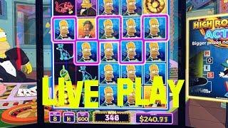 The Simpsons live play at max bet $6.00 WMS Slot Machine