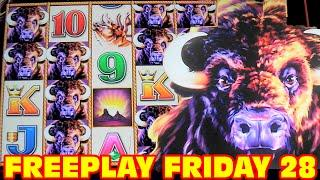 Buffalo Stampede - FREEPLAY FRIDAY 28 - Slot Machine LIVE PLAY + BONUS