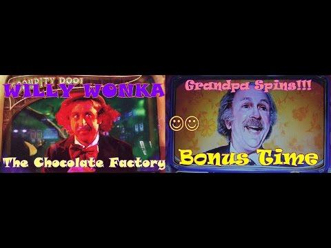 ~GOOD WIN~ Willy Wonka Chocolate Factory | Giant GrandPa Spins | Slot Machine Bonus