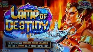 Lamp of Destiny Slot - SUPER FREE GAMES - $4.50 Max Bet!