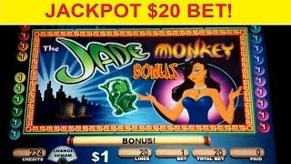 Jade Monkey Slot Machine *JACKPOT HANDPAY* $20 Bet High Limit *AS IT HAPPENS* Bonus!