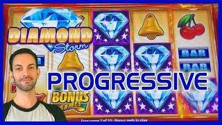 •Diamond Storm HUGE Progressive WIN! • • Slot Machine Pokies w Brian Christopher