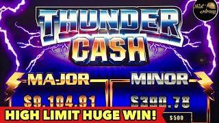 •️$10 BET HUGE WIN•️RETRIGGERED THUNDER CASH HIGH LIMIT BONUS | GRAND DRAGON EPIC BONUS SLOT MACHINE