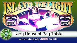 Island Delight slot machine with Unusual Top Spin Paytable