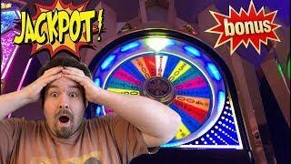 Wheel of Fortune - Bonus and JACKPOT 4 FIGURE WIN Wheel spin free games High Denom Max Bet