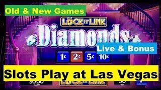 •LAS VEGAS SLOTS• Old & New Games Live play & Bonus •5 Treasures/Oz/Lock it Link /3 slots Play