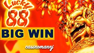 LUCKY 88 SLOT x88 *BIG SLOT WIN* - ALL BONUS FEATURES! - Slot Machine Bonus