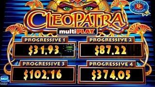 MAJOR PROGRESSIVE! Cleopatra multiPLAY Slot Big Win!