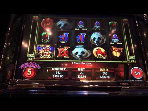 Ainsworth Panda King bonus round $20 bet big win high limit