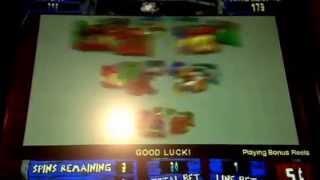 Super Money Storm Slot Machine Bonus $.05 Denom Bellagio Casino Las Vegas