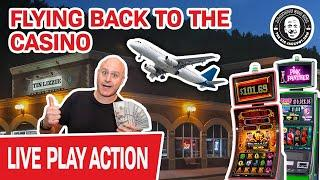 ★ Slots ★ FLYING BACK to The Casino ★ Slots ★ Playing REAL LIVE SLOTS Again!
