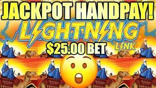 MY FIRST $25.00 BET BONUS TURNED INTO A JACKPOT HANDPAY! ⋆ Slots ⋆ LIGHTNING LINK SAHARA GOLD Slot M