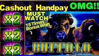 MUST WATCH •️ Buffalo Deluxe Slot •MASSIVE WIN• | Mega Slot Win | CASINO | Slot |Aristocrat Slot
