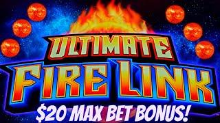 High Limit Ultimate Fire Link Slot Machine $20 Max Bet Bonus | Live Slot Play | SE-5 | EP-24