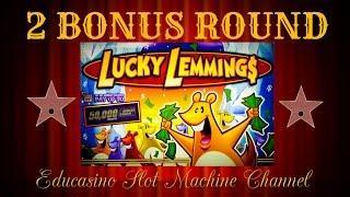 •LUCKY LEMMINGS•BONUS X2•BY WMS SLOTS