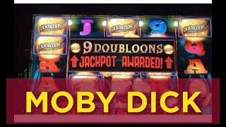 MOBY DICK (The WHALE) Slot machine Bonus and Progressive Jackpot WIN