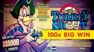 Turkey Shoot Slot - 100x BIG WIN - AWESOME Bonus, YES!