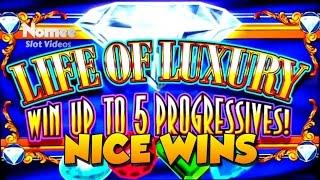 Life of Luxury Progressive Slot Machine - Colossal Bier Haus - Max Bet Bonuses