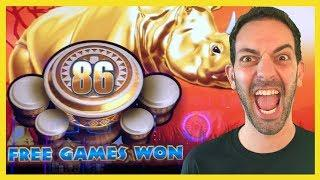 Brian takes CHARGE with RHINO CHARGE • 86 BONUS SPINS • Brian Christopher Slots