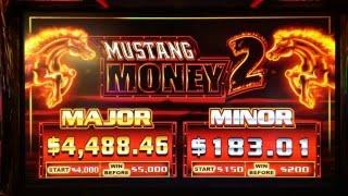 Mustang Money 2 Bonuses at $5.00 Bet and BIG WIN with MANY Retriggers & Features at Pechanga Resort