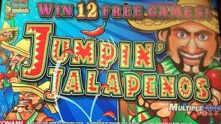 Jumpin' Jalapenos MAX BET •LIVE PLAY•  Slot Machine at Harrahs SoCal