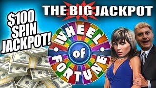 $100 SPIN JACKPOT •Wheel of Fortune Double Diamond BIG WIN •The Big Jackpot Slots