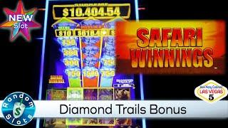 ⋆ Slots ⋆️ New - Safari Winnings Diamond Trails Slot Machine Bonus