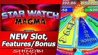 Star Watch Magma Slot - New Konami game, with Features and Free Spins Bonuses