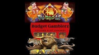 FU DAO LE & BIG 5 SAFARI ~ NICE PROGRESSIVE WIN ~ Live slot play @ San Manuel Casino