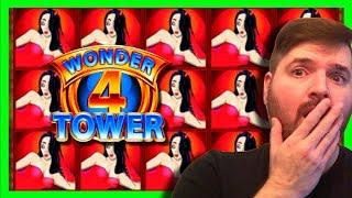 BIG WINS! I Triggered The Tower Bonus on A BIG BET!! Wonder 4 Tower Slot Machine