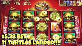 ***88 FORTUNES $5.28 BET*** TURTLES LANDED HUGE COME BACK | Many BONUS GAMES