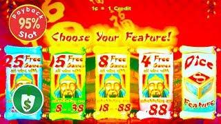 Lucky 88 95% payback slot machine, 2 bonuses