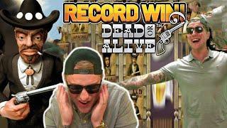RECORD WIN!!! DEAD OR ALIVE BIG WIN - €18 BLITZ BONUS ON CASINO SLOT FROM NETENT