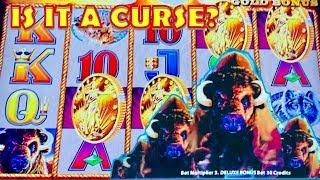 • 4 COIN TRIGGER IS IT A CURSE ? • BUFFALO GOLD & DELUXE •️ LIVE PLAY & BONUS SLOT MACHINE