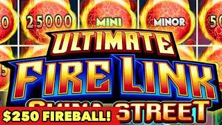 •️$250 BALL DROPPED ULTIMATE FIRE LINK•️WISH DRAGON SURPRISE COIN FEATURE SUPER BIG WIN SLOT MACHINE