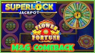 ★ Slots ★SUPERLOCK Lock It Link FLOWER FORTUNE HANDPAY JACKPOT  EPIC COMEBACK ★ Slots ★HIGH LIMIT $3